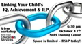 Linking Your Child's IQ, Achievement and IEP -- A Free Workshop