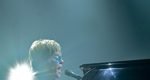 Elton John performing last night at the Covelli Center in Youngstown