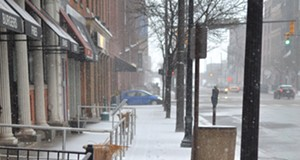 Scenes From A Mid-March Snowstorm: Downtown Cleveland on Wednesday Afternoon