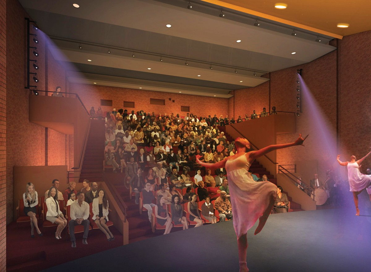 Architectural rendering of new Jelliffe Theater.