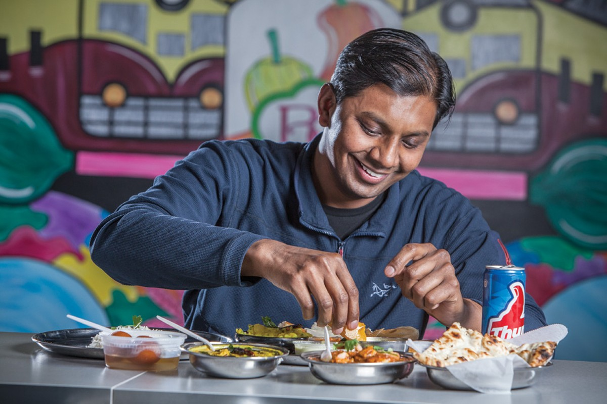 Chef Vishawatej at Bombay Chaat