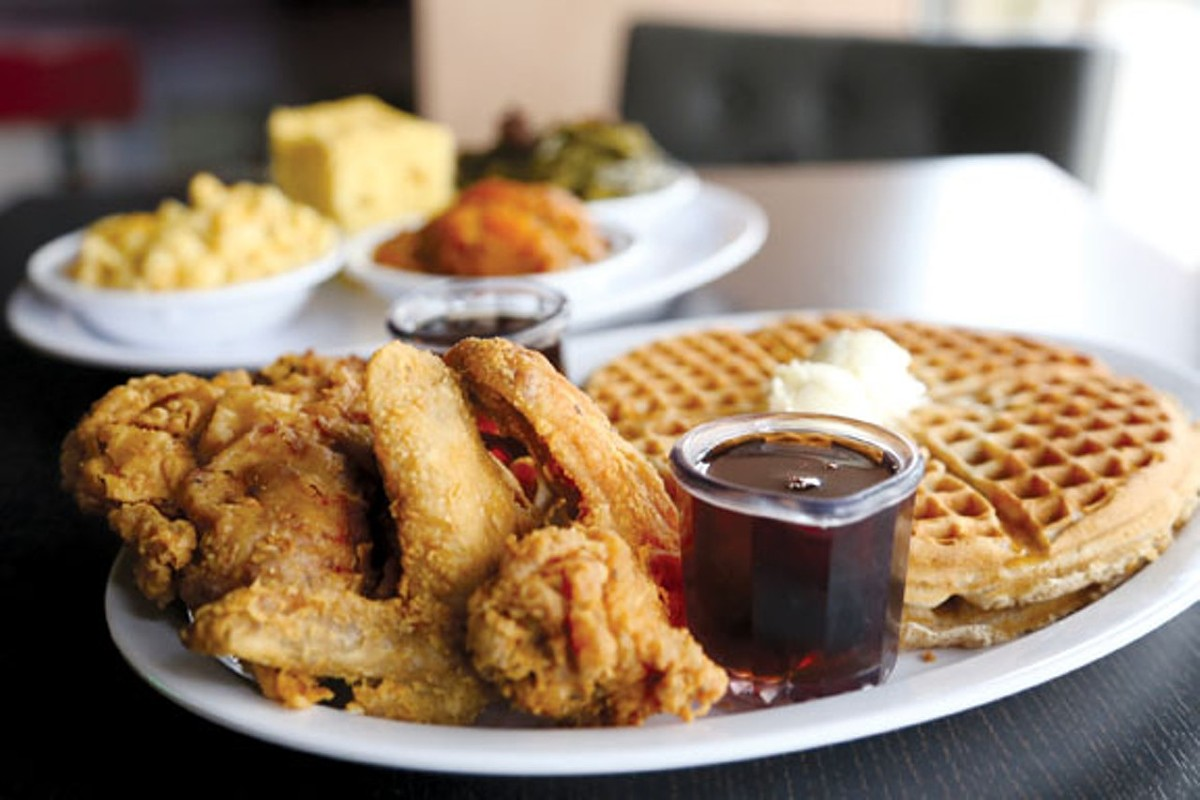 You can never go wrong with chicken and waffles.