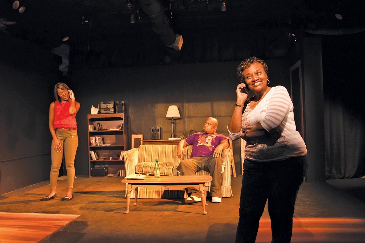 Lorrainna Worthern, Michael L. May, and Irma R. McQueen in Thiz Girlz Lyfe.