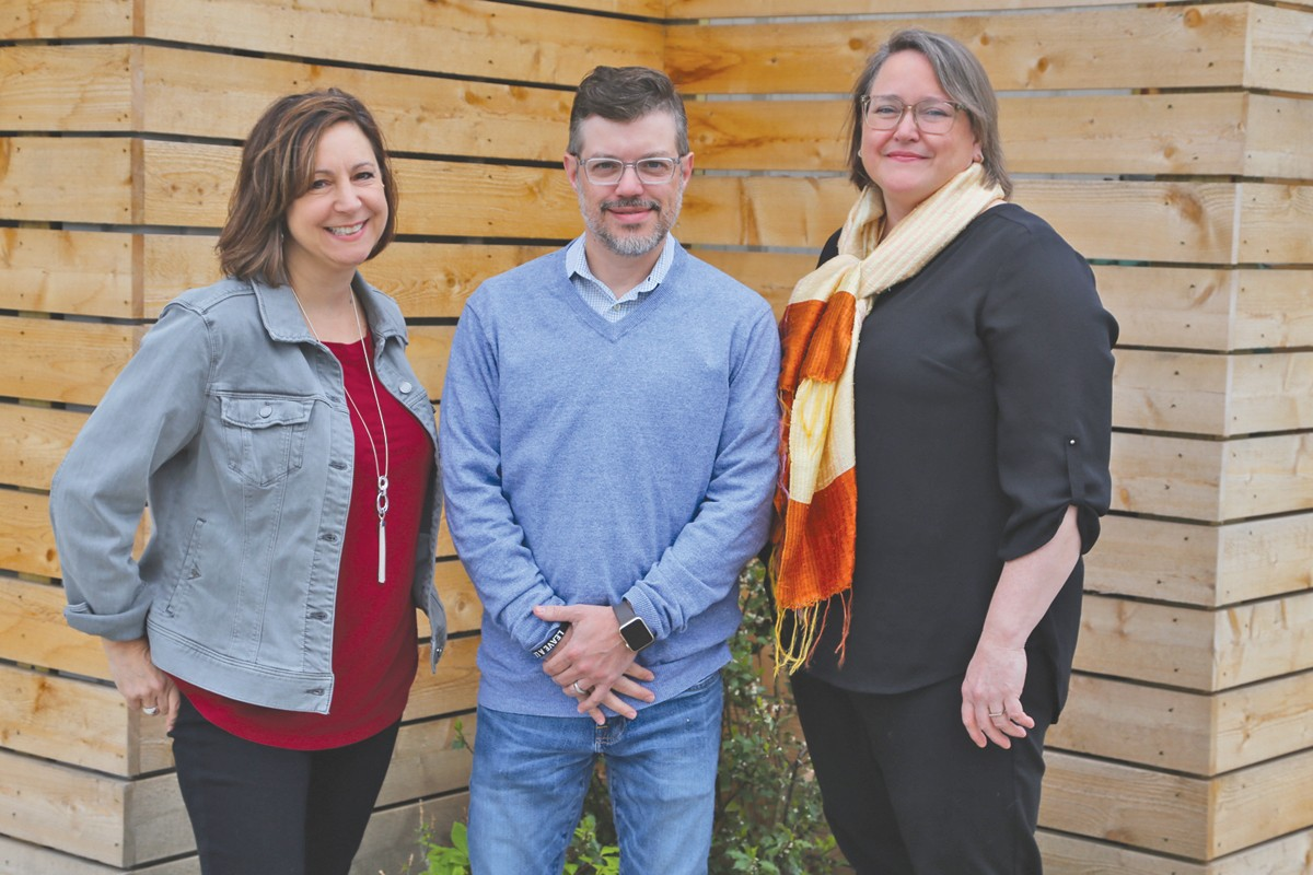 From left, Edible Cleveland's publisher Lisa Sands, owner Eric Diamond and former publisher Noelle Celeste.