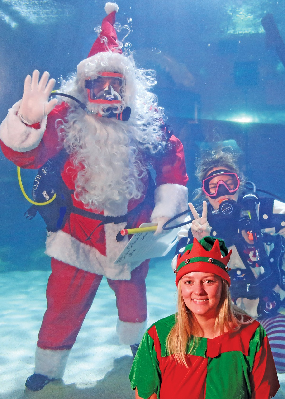 Scuba Claus returns to the Greater Cleveland Aquarium. See: Friday