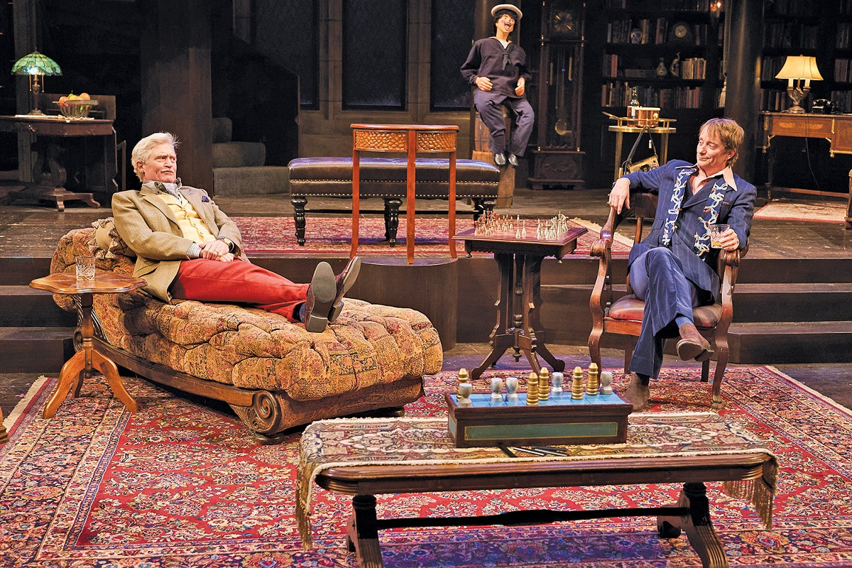 "David Anthony Smith, Jolly Jack Tar, and Jeffrey C. Hawkins deliver the goods in ""Sleuth,"" now at Great Lakes Theater."