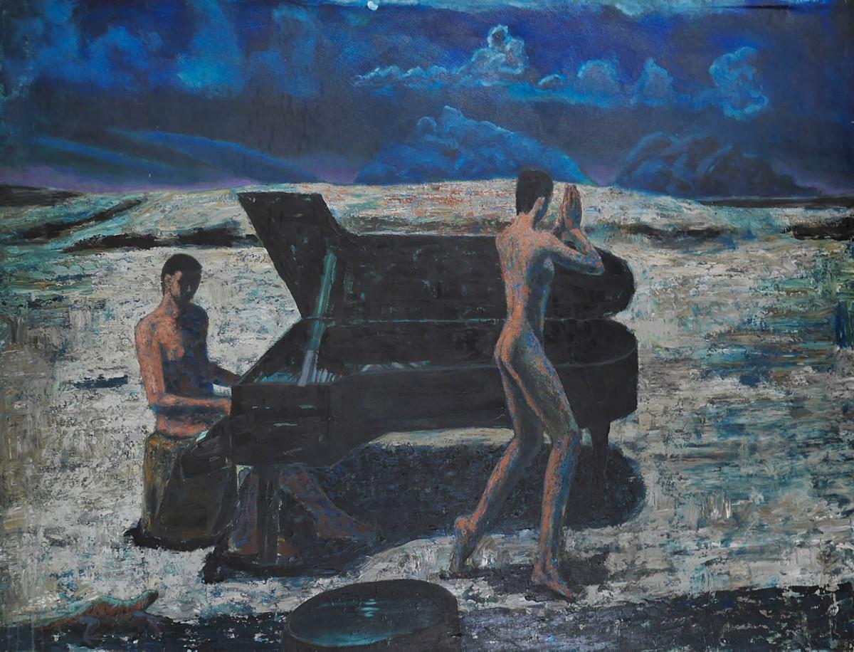 Dancing on the Moon (Night), 1991, acrylic on canvas