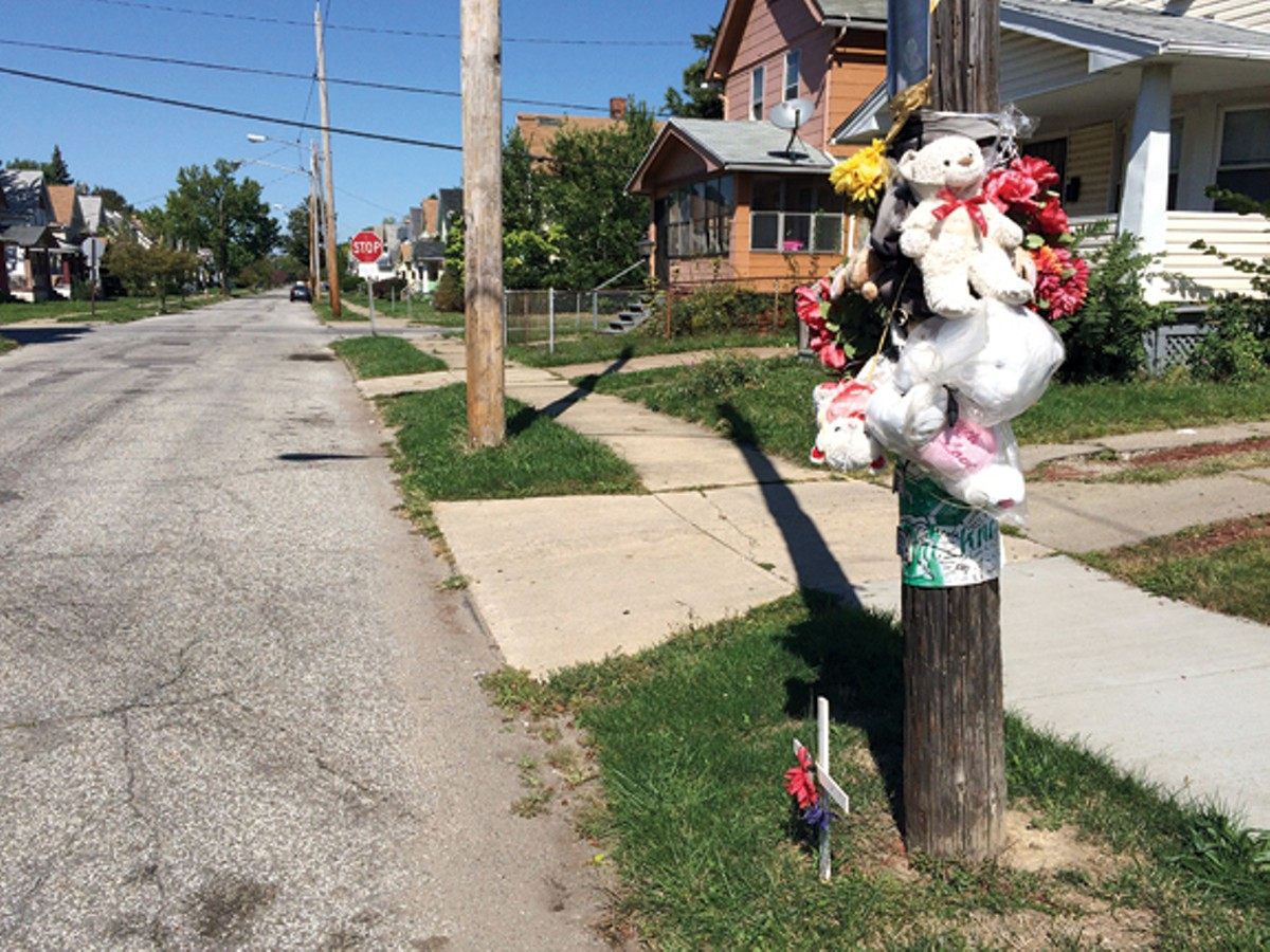 The memorial for Javon Alexander on East 104th Street