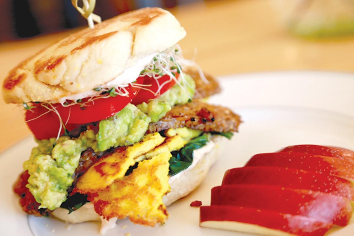 Raw Burger at Cleveland Vegan