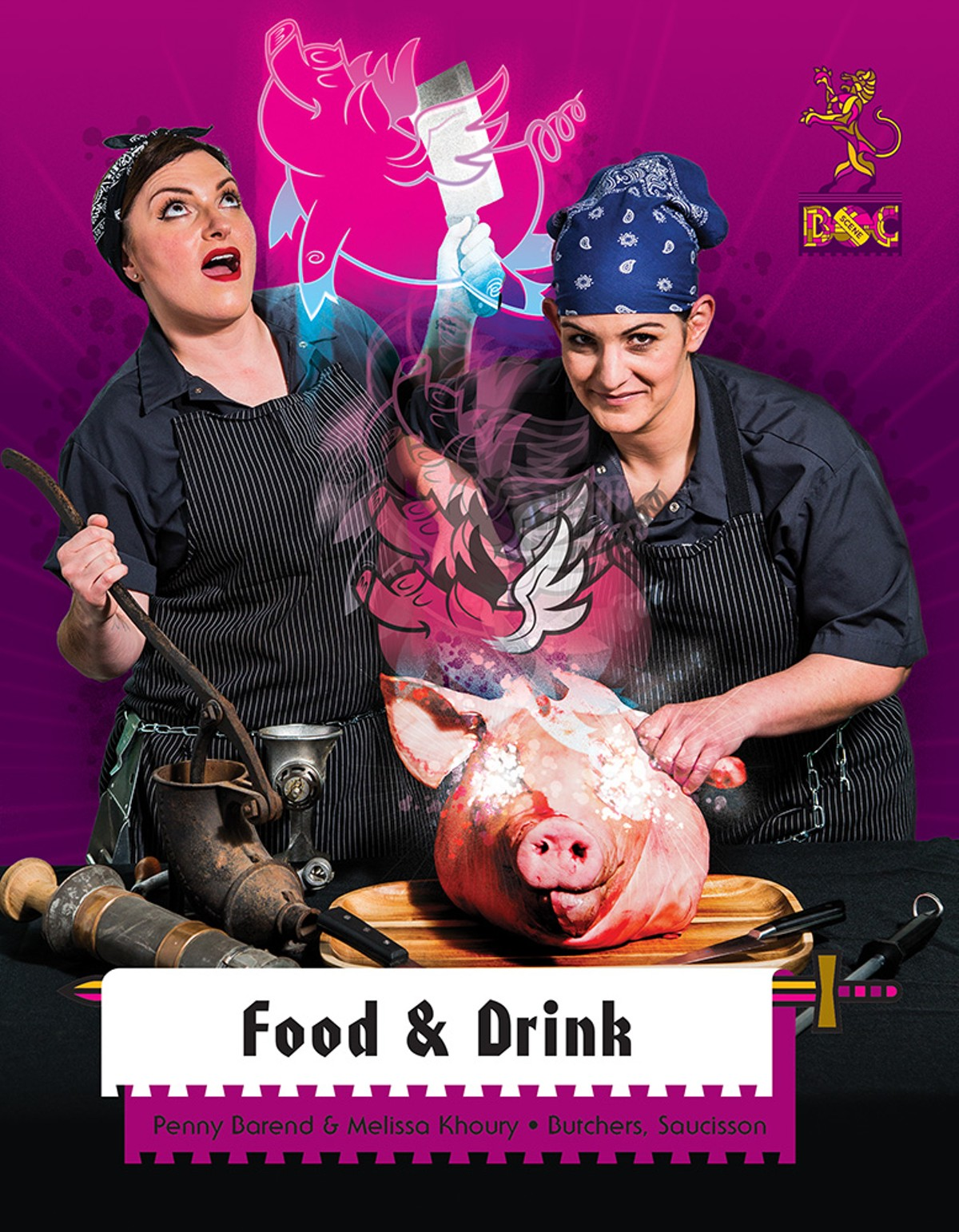 Penny Barend and Melissa Khoury, Butchers, Saucisson