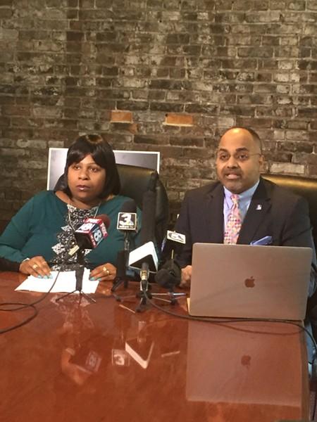 Samaria Rice and Subodh Chandra denouncing Steve Loomis and the CPPA, (10/16/17). - SAM ALLARD / SCENE