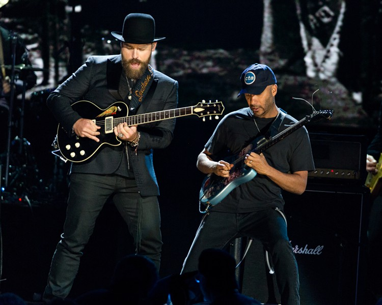 The hat worn by Zac Brown (left) is currently on display at the Rock Hall. - COURTESY OF THE ROCK HALL