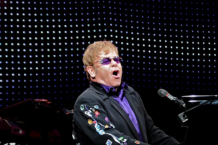 Elton John performing at Blossom Music Center in 2011. - JOE KLEON PHOTO