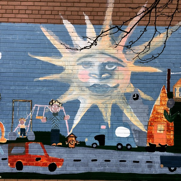 The mural at Cudell Recreation Center - COURTESY OF JEREMY BENDIK-KEYMER