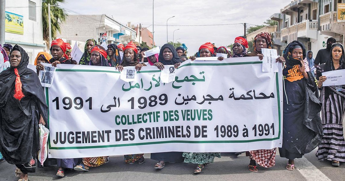 Mauritanian women protest after a spate of imprisonments and - murders from 1981 to 1991. - PHOTO COURTESY OF OHIO IMMIGRATION ALLIANCE