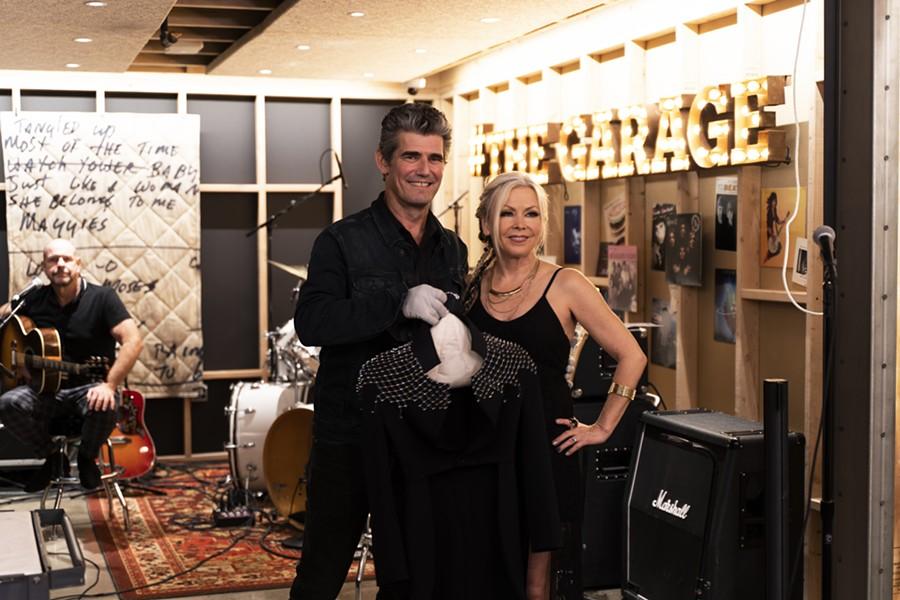 Rock Hall CEO Greg Harris and Berlin singer Terri Nunn. - COURTESY OF THE ROCK HALL
