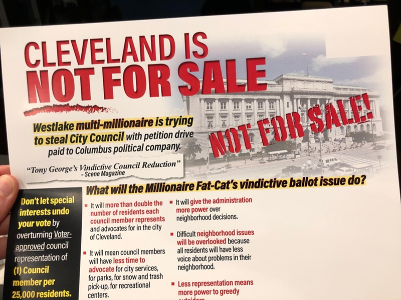 Anti-council reduction campaign literature, distributed in West Side Wards. - IMAGE PROVIDED TO SCENE