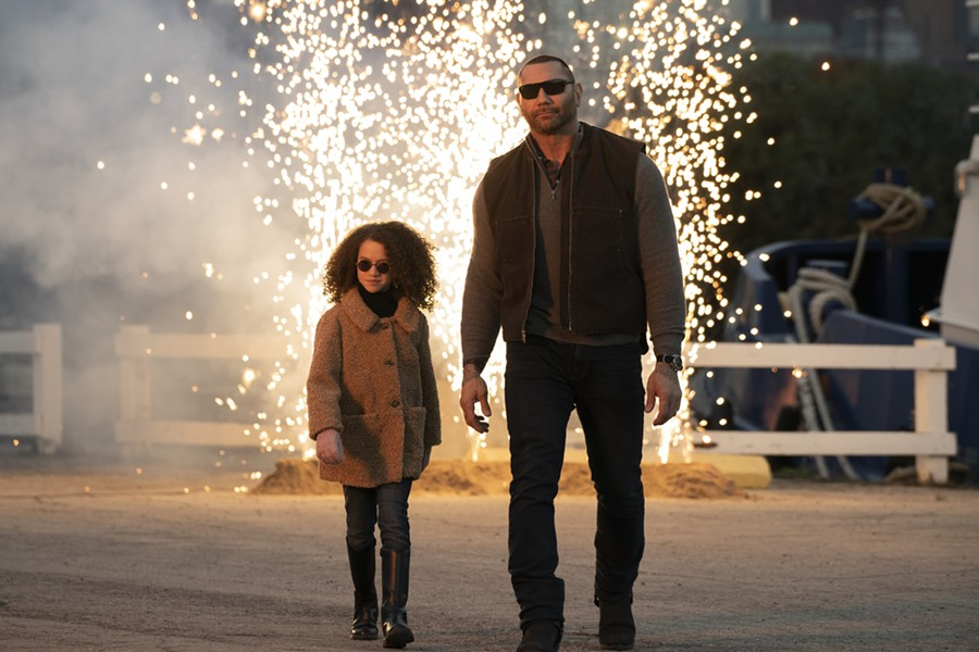 Chloe Coleman and Dave Bautista in My Spy. - COURTESY OF AMAZON STUDIOS