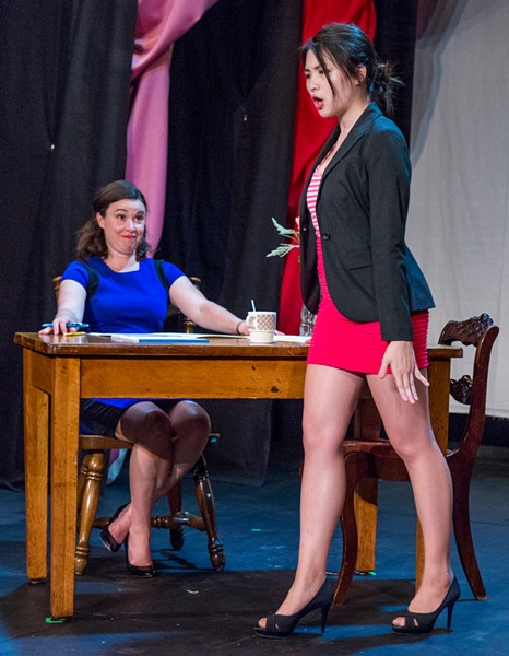 COURTNEY BROWN AS NELL AND ISABEL WANG AS SHONA, PHOTO BY BOB PERKOSKI