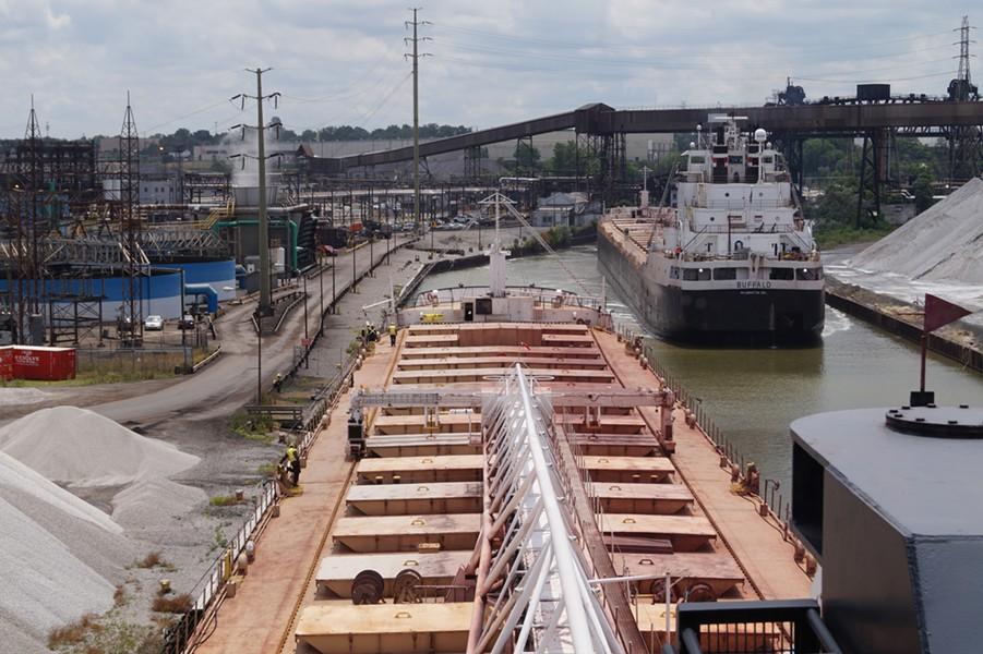 The Sam Laud navigates toward ArcelorMittal. - SAM ALLARD / SCENE