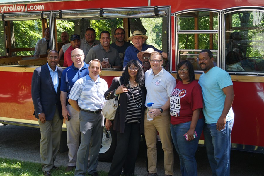 Cleveland City Council on a neighborhood tour in June. - SAM ALLARD / SCENE