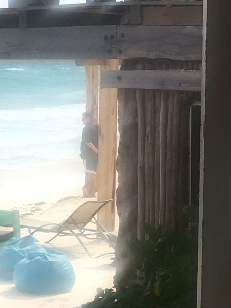 Oscar Villarreal, gazing at his conquered beach in Tulum. - COURTESY: PAOLA SBRIZZI