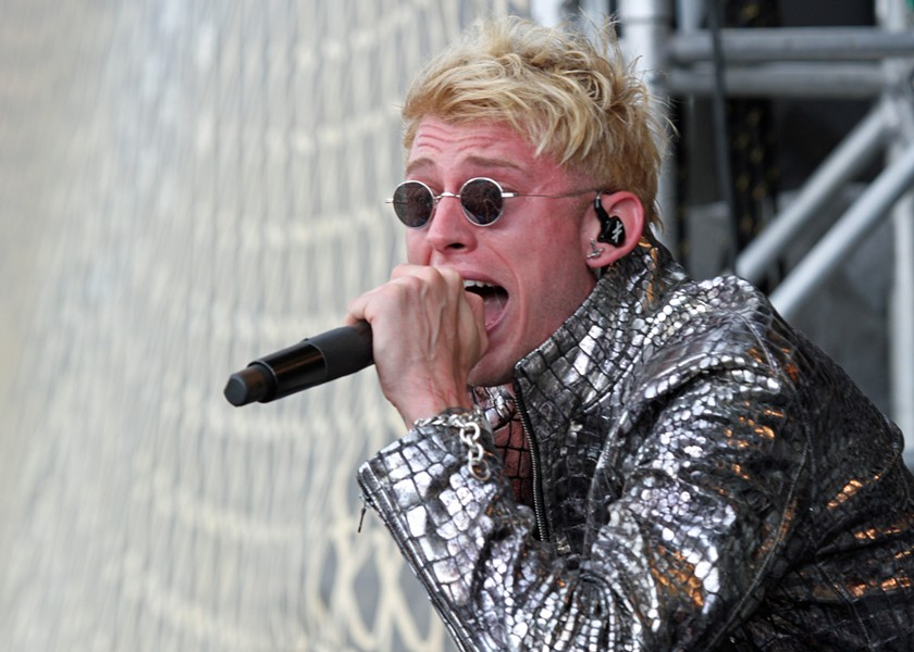Machine Gun Kelly performing at Lollapalooza. - SAMANTHA FRYBERGER