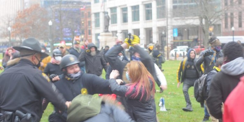 The Last Ohio Statehouse Protests Ended in Fistfights. Now Officials Worry About Inauguration Violence