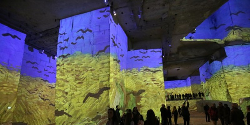 Immersive Van Gogh Exhibit features 500,000 cubic square feet of floor-to-ceiling digital projections.