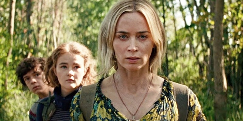 Noah Jupe, Millicent Simmonds and Emily Blunt in A Quiet Place Part II