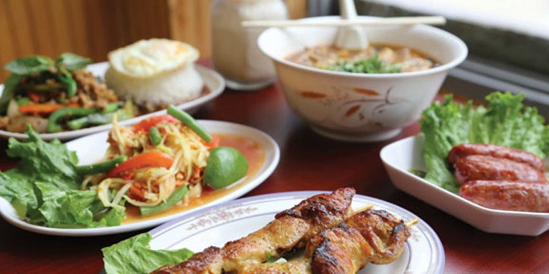 A few of the great dishes at Thai Thai restaurant in Lakewood.