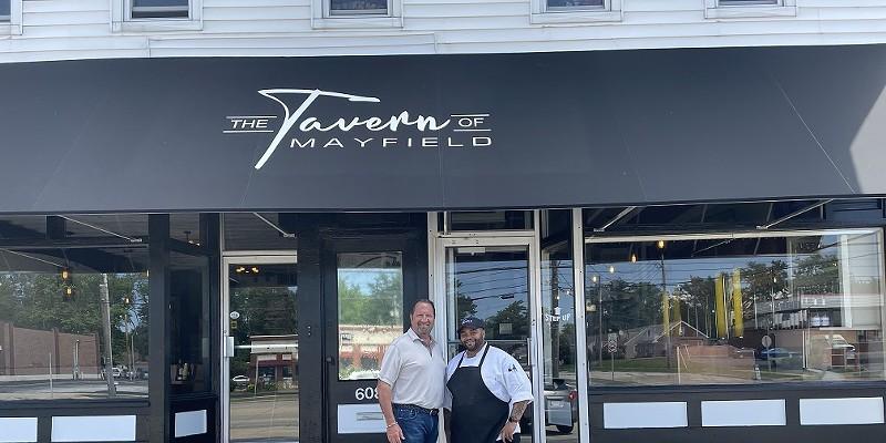 Brad Kowit (left) with chef-partner Zeck Taylor.
