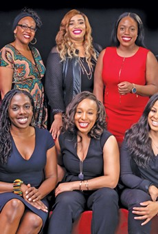 Top row from left to right: Tiffany Hollinger, Sharisse Edwards, TerDawn Deboe, Chinenye (ChiChi) Nkemere, Shemariah Arki. Bottom row from left to right: Khalida Sims, Lauren Welch, Latoyia Jones
