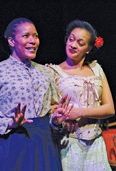 Kimberly L. Brown, left, and Zyrece Montgomery in Intimate Apparel.