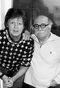 The late Tommy LiPuma (left) with Paul McCartney.