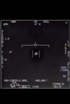 Military video still of an unidentified object captured by an F/A-18 Super Hornet in 2004