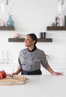 Tiwanna Scott-Williams in her element: a kitchen.