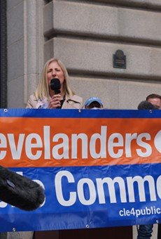 Ward 15 Councilwoman Jenny Spencer speaks in favor of adding a public comment period at Cleveland City Council meetings, (4/12/21).