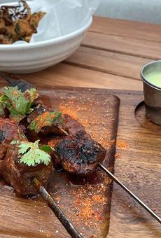 Lamb kebabs at Kindred Spirit