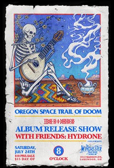 Poster for Oregon Space Trail of Doom's release show.