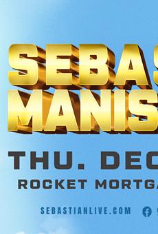 Art for Sebastian Maniscalco's comedy tour.