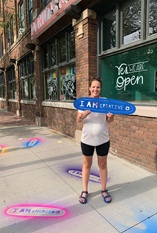 Ideastream Public Media Makes Its Mark Around Cleveland With Stencils Designed By Local Artist Erin Guido