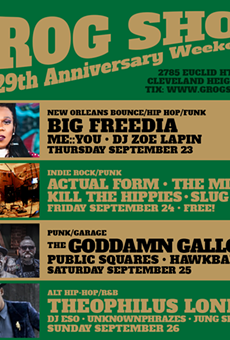 Flyer for Grog Shop's anniversary weekend.