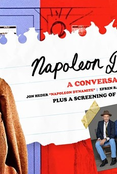 Poster for the Akron Civic's screening of Napoleon Dynamite.