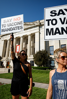 Several nurses indicated Aug. 24 at a rally against vaccine mandates outside the Statehouse that they'd sooner quit than seek vaccination against COVID-19.
