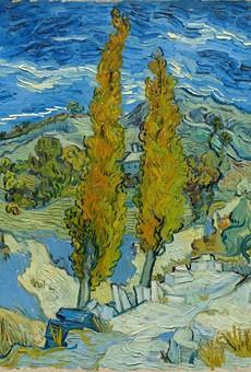 Two Poplars in the Alpilles near Saint-Rémy, 1889. Vincent van Gogh