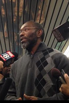 Exonoree Ricky Jackson on the day he was released from prison