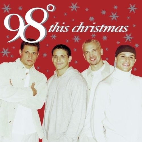 BEFORE: 98 Degrees' first Christmas album cover in 1999.