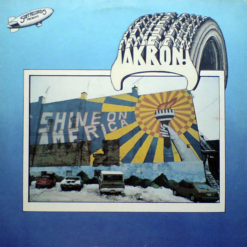 """Shined On: The cover photo was shot during """"the great blizzard of 1978,"""" by a visiting photographer hired by Stiff. The mural is in Cuyahoga Falls."""