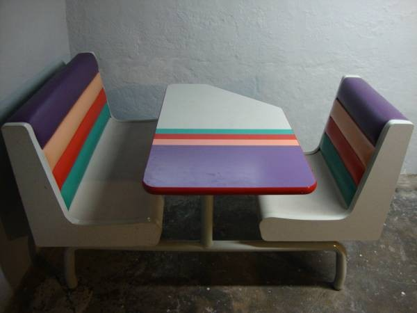 Outstanding Vintage Taco Bell Booth In Lakewood Available Now On Alphanode Cool Chair Designs And Ideas Alphanodeonline